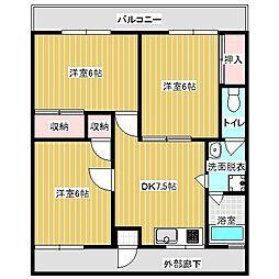 糸山コーポ[3階]の間取り