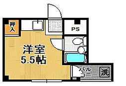 泉尾ハイム[4階]の間取り