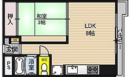 プラザ新大阪[2階]の間取り