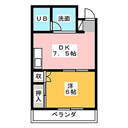 新清水ビル[3階]の間取り