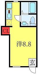 東武東上線 東武練馬駅 徒歩5分の賃貸アパート 1階ワンルームの間取り