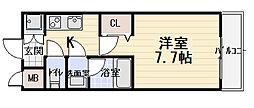 ライズ西昇[2階]の間取り