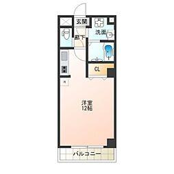 ラ・カーサ西加賀屋[1階]の間取り