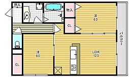 仮称)春日町新築アパート[2階]の間取り