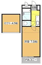 東京都東村山市富士見町3丁目の賃貸アパートの間取り