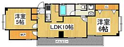 FKマンション[4階]の間取り
