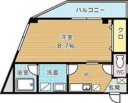 矢島ビル[505号室]の間取り