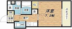S-RESIDENCE新大阪Ridente[7階]の間取り