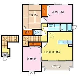 アレーグレ[2階]の間取り