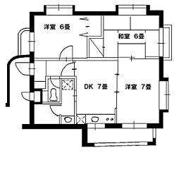 ウッドガーデン東戸塚A棟[1階]の間取り