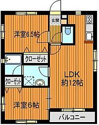 セゾン桜台[2階]の間取り