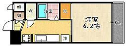 アクアプレイス京都東寺[105号室]の間取り
