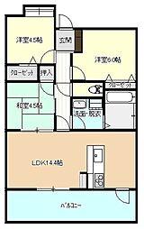 ルネッサンス21福岡東[5階]の間取り