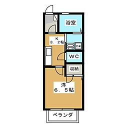 ウィン・恵比寿音羽[1階]の間取り