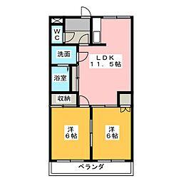 サンコートS'99[2階]の間取り