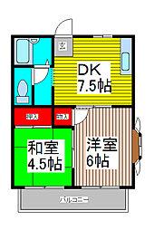 ヨシノハイツ[1階]の間取り