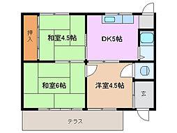 [一戸建] 三重県四日市市山之一色町 の賃貸【/】の間取り