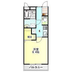 ジ・アパートメント下堀[106号室]の間取り