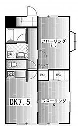 ハイツヒロセ[1階]の間取り