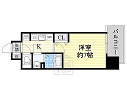 Osaka Metro中央線 緑橋駅 徒歩7分の賃貸マンション 3階1Kの間取り