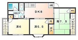 Dame五月田[3階]の間取り