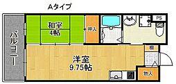 サンロワール和泉砂川 4階1LDKの間取り