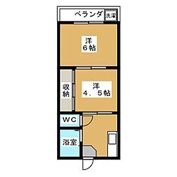 コートマザリ[1階]の間取り