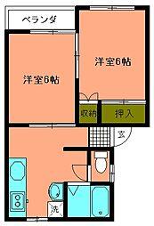 サンベルデ田尻野[101号室]の間取り