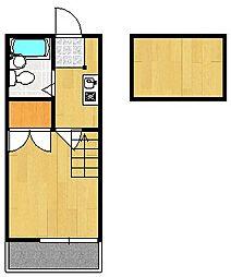 山科第15マンション[2階]の間取り
