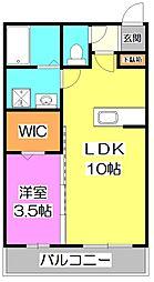 東京都練馬区高松6丁目の賃貸アパートの間取り