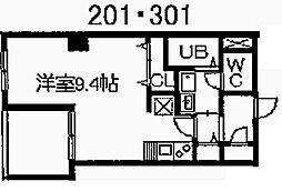 スワローハイム岩塚[2階]の間取り
