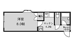 フラット福寿第3[1階]の間取り