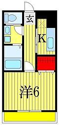 アッパルタメント・ロッソ[2階]の間取り