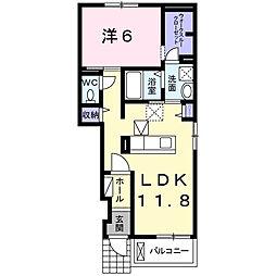 カレント・美郷III[1階]の間取り