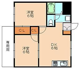 シティハイツ松岡[1階]の間取り