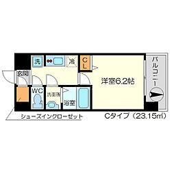 リッツ新大阪[3階]の間取り