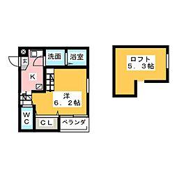 ハーモニーテラス児玉II(ハーモニーテラスコダマツー)[1階]の間取り