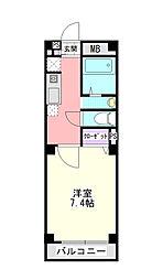 コスモ21[203号室]の間取り