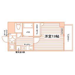 エクシート八幡[3階]の間取り