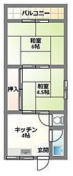 [テラスハウス] 大阪府寝屋川市清水町 の賃貸【/】の間取り