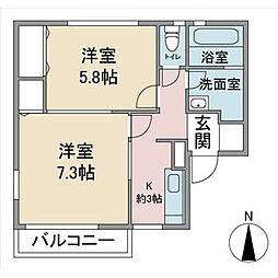 リーフレジデンス 東館[2階]の間取り