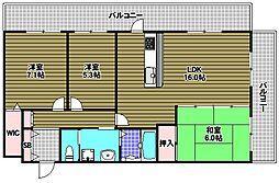 ラフィーナ堺・光明池[3階]の間取り