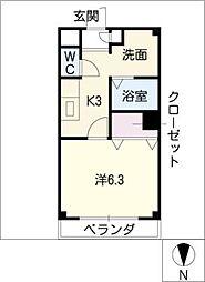 セントラルエール[4階]の間取り