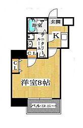 ドゥエリング桜川[507号室号室]の間取り