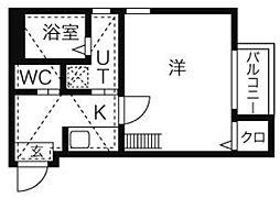 リバティ—名駅[2階]の間取り