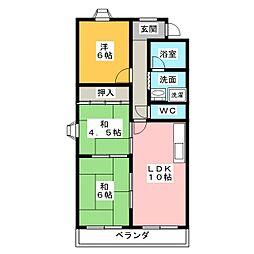 ムーニーナリタ[1階]の間取り