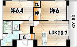 プレステージ・デル・片野[2階]の間取り