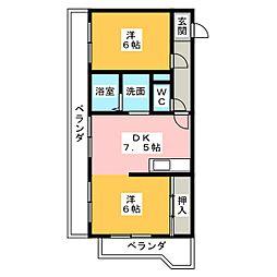 ドミール高垣[4階]の間取り