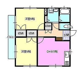 青木貸室 2階[2階]の間取り