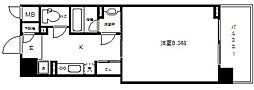 アスヴェルタワー大阪城WEST[3階]の間取り